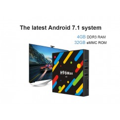 H96 MAX H2 Smart TV Box Android 7.1 RK3328 4GB RAM 64GB ROM Set Top Box HDR10 USB3.0 2.4G/5G WiFi Bluetooth 4.0 4K Media Player