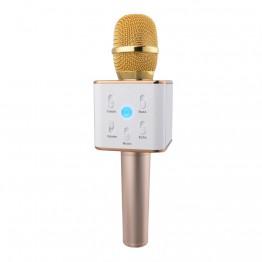 DWO Q7 Portable Wireless Karaoke Microphone Handheld Condenser Microphone with Speaker for iPhone/iPad/Samsung Smartphones