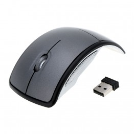 Mini USB Jack 2.4G Snap-in Transceiver Optical Foldable Folding Arc Wireless Mouse For PC Laptop Computer