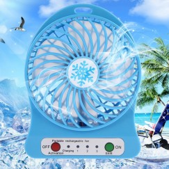DWO Portable Mini USB Fan 3.7V Li-ion 2200mAh Battery Rechargeable Multifunctional 3 Gear Speed 4.5W Super Strong Wind Cooling Fan