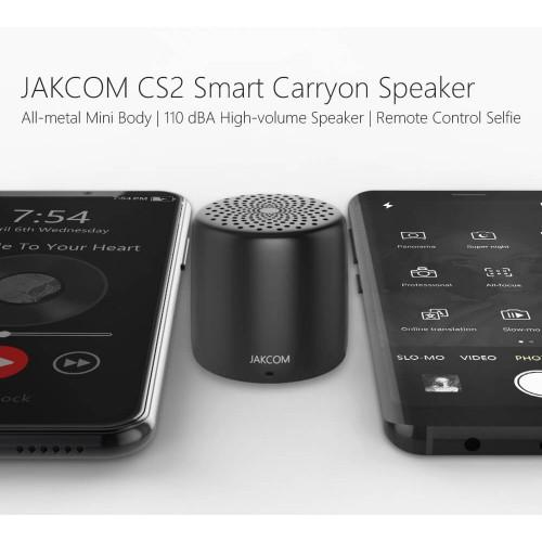 Jakcom CS2 mini portable bluetooth music speakers Smart Carryon with Soundbar Magnetic Floating Speaker for phones black
