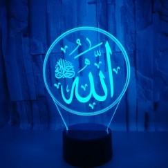 Muslim Allah 3D Night Light Islam Muhammad 7 Color Change Visual Acrylic Home Deceration Desk Customize Lamps #EA00002576OT_1