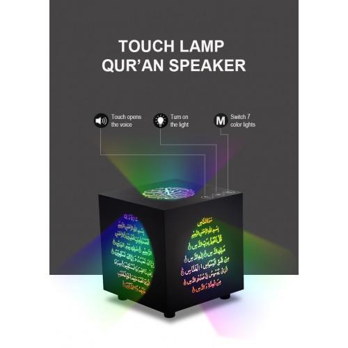 EQUANTU Remote Colorful LED Bluetooth Quran Speaker Muslim Islamic Koran Speaker 10W FM TF 25 Languages Support
