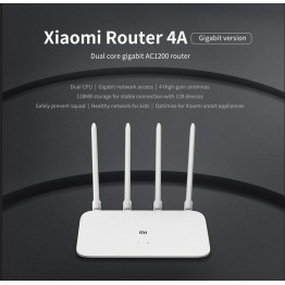 Original Xiaomi Mi Router 4A Gigabit Edition 100M 1000M 2.4GHz 5GHz WiFi ROM 16MB DDR3 64MB 128MB 4 Antennas Remote APP Control