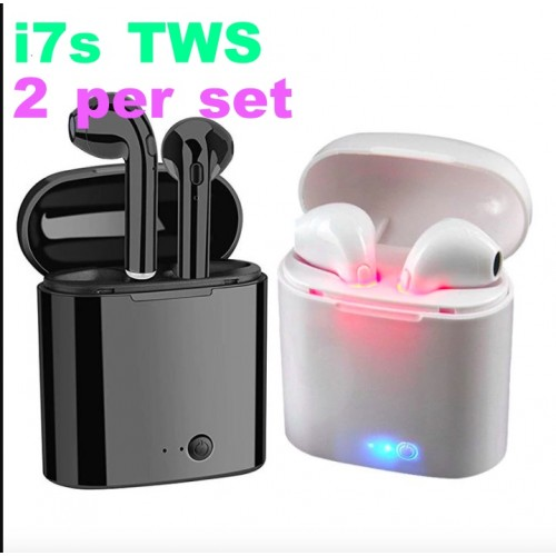 [2 sets]i7s TWS Mini Wireless Bluetooth Earphone Stereo Earbud Headset Headphones Mic For IPhone 7 Xiaomi REDMI K20 NOTE 7 9 9T A2 Phone
