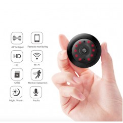 WIFI Mini Camera 1080P 960P P2P Wireless Baby Monitor Mini Cam Infrared Night Vision Motion Detection SD Card Slot Audio APP