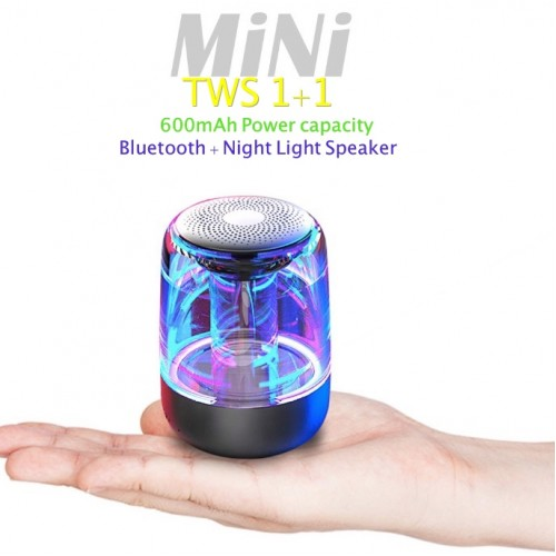 Portable Wireless RGB LED Bluetooth Speakers Night Light HD HiFi Powerful Sound 2019 Home Outdoor Wireless Bluetooth Speaker