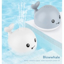 Creative Water Spray Bath Toy Whale Shape Led Light Water Spray Ball Baby Bath Water Toys Automatic Induction