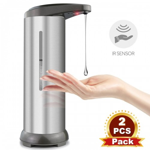 [2pcs/pack] Automatic Soap Dispenser and Touchless Soap Dispenser Equipped with Stainless Steel Infrared Motion Sensor