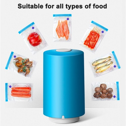 Mini USB Rechargeable Automatic Vacuum Sealer Pump Machine With 5 Vacuum Bag Electric Food Vacuums Saver (Battery Operated)