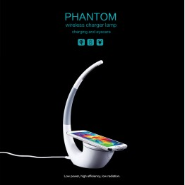 Nillkin Phantom Qi wireless charger lamp for Samsung Galaxy S6 For LG/Nokia Qi standard mobille digital devices Charging Pad