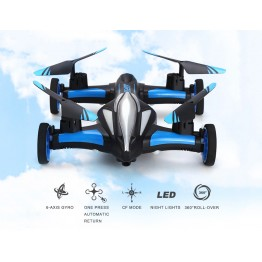 JJRC H23 2.4G RC Quadcopter 4CH 6 Axis Gyro Land / Sky 2 in 1 UFO [ Blue with Black]