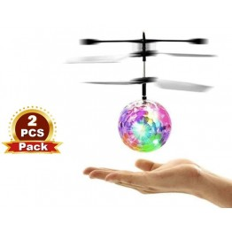 [2pcs/pack] Mini Helicopter Aircraft Flying Ball flying toys Funny LED Lighting Obstacle Sensor Flying Ball Drone Helicopter Toy for Kids