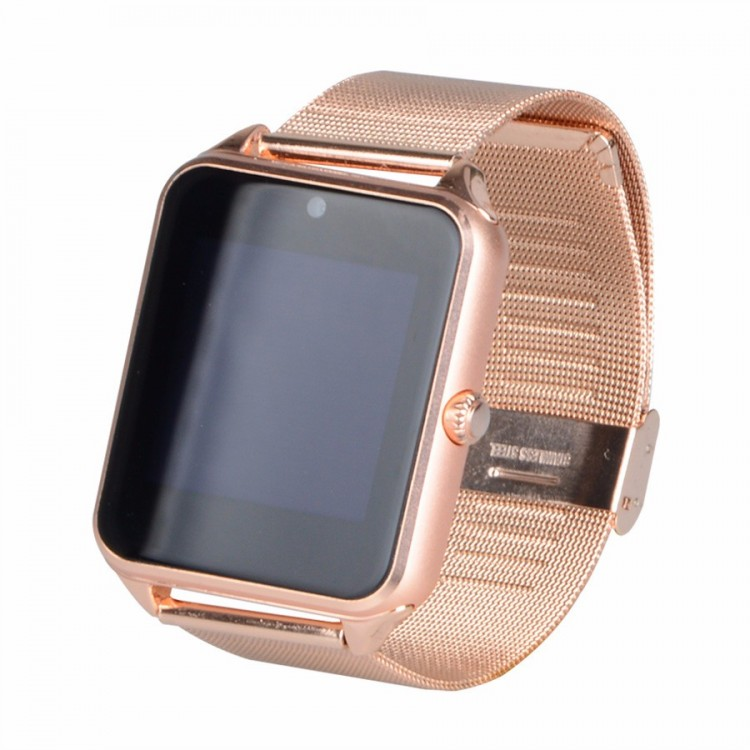 on sale e1f84 ed2b6 Z60 Smart Watch Stainless Steel Smartwatch Support SIM TF Card Camera Call  SMS Remind Wristwatch For IOS Android