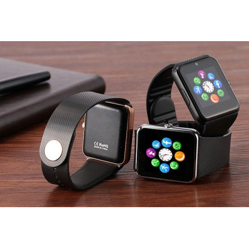 DWO GT08 Clock Sync Notifier support SIM TF Card Connectivity Apple iphone Android Phone Smartwatch