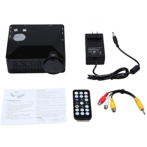 BL-18 Black Mini LED Projector LCD Portable Projektor 500 Lumen Support AV/VGA/SD/USB/HDMI
