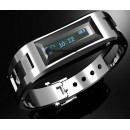Bluetooth vibrating bracelet watch Clock with call ID & proximity alert Steel