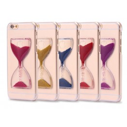 "1PCS Hourglass Silicone TPU Case For iPhone 5 5S 6 6 plus 4.7/5.5"" Grape Wine Transparent Clear Cover phone cases"