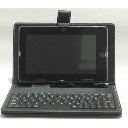 Keyboard with PU leather case for 7inches Tablet PC