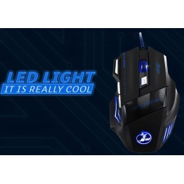 Mouse 5500 DPI 7 Button LED Optical USB Wired Gaming Mouse Mice For Pro Gamer computer with tracking no
