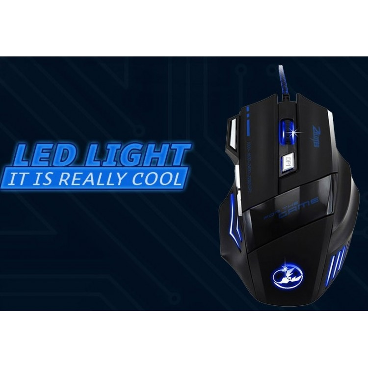 5b0091836e5 Mouse 5500 DPI 7 Button LED Optical USB Wired Gaming Mouse ...