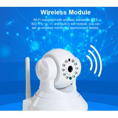 WiFi Wireless Network IP Security Camera H.264 1.0MP HD 720P IP Camera P2P Pan IR Cut WiFi Wireless Network IP Security Camera