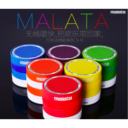Malata S-6 Portable Mini Bluetooth Speaker Wireless Bluetooth Speaker with Auxilary Input Support SD Card For iPhone Android