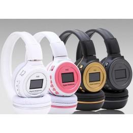 Zealot N65 Over-Ear Headphone with noise cancelling FM radio Earphones Wireless Headphone With LCD Screen Digital Headset