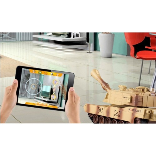 JXD JD805 Wifi Real Time Monitoring of Video Image Captured Scouting Tank with Camera Model Remote Control Toy RC Car