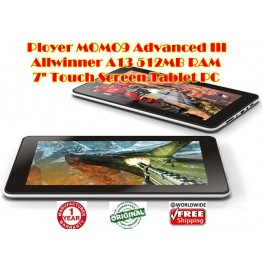 "Ployer MOMO9 Adanced III 7"" Android 4.0 Allwinner A13 512MB ram Video Play Capacitive Tablet PC 1GHz 8GB"