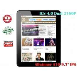 "Onn M3  2160P 9.7"" IPS Capacitive Tablet PC Allwinner A10 1GHz 1GB RAM ICS4.0"