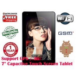 "Onn N7T 7"" Andorid 4.0 RK2918 GC800 512Ram 8GB 2G 3G GPS"