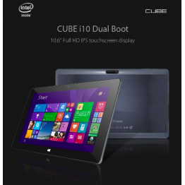 Cube I10 Dual Boot Tablet PC Intel Z3735F Quad Core 10.6 Inch Windows8.1+Android4.4 USB Host Slot CDEK Free Shipping
