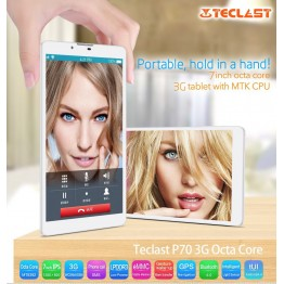 "Teclast P70 7.0"" Inch IPS 3G WCDMA MTK MT8392 Octa Core 1GB RAM 8GB ROM Android 4.4 Phone Call Tablet PC OTG 1280*800"