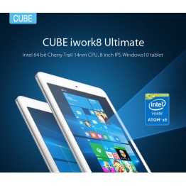 Cube iwork8 Ultimate 8.0 inch Tablet PC Intel x5-Z8300 64bit Quad Core 1.44GHz Windows 10 IPS Screen 32GB ROM WiFi Cameras HDMI