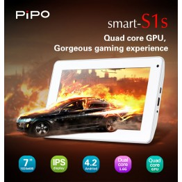 PIPo S1s Tablet PC 1024x800 IPS Andriod 4.2 RK3066 Dual Core 1.6GHz 1GB DDR3 8GB HDD Capacitive Webcam Wifi