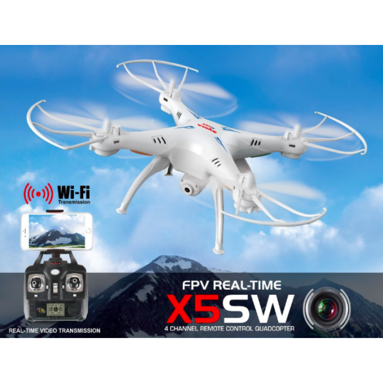 Syma X5sw Wifi Rc Drone Fpv Quadcopter With Camera Headless 2 4g 6 Axis Real Time