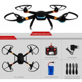 GW007-1 Spy Explorers 2.4GHz 6 Axis Gyro RC Quadcopter Drone with 2.0MP HD Camera, DM007 & GW007 Upgrade Version