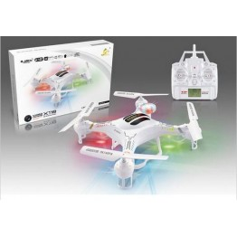 X118 2.4Ghz 6-Axis Gyro RC Quadcopter Drone Helicopter With HD Camera Color White+US Free Shipping