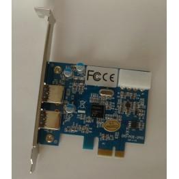 USB 3.0 PCI-e PCI card 2-port w/ AM/AM USB 3.0 cable