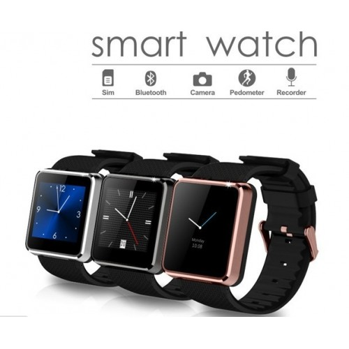F1 Smartwatch Sync Call SMS Facebook Twitter Pedometer Sleep Monitor 1.3MP Camera Support SIM card Watch Phone