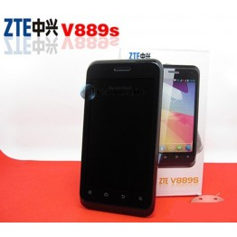 ZTE V889S 4 Inch 800x540 MTK6577 Dual Core Mobile Phone Android 4.1 Black 512Mb 4GB Wifi GPS BT