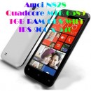 Amoi N828 Quad Core MTK6589 Android 4.2 WCDMA 3G Dual SIM 1Gb/4Gb Dual Camera 8.0MP Built-in GPS Wifi