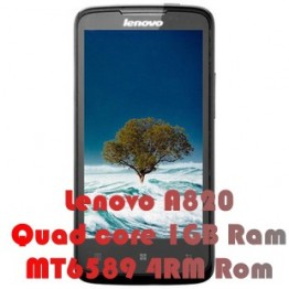 Lenovo A820 mtk6589 quad core mobile phone dual sim 1.2GHZ CPU 1GB Ram 8.0mp
