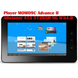 "Ployer MOMO9C Adanced II 7"" Android 4.0  Video Play Capacitive Tablet PC 1GHz 8GB"