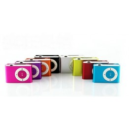Small metal clip mp3 player support TF cards