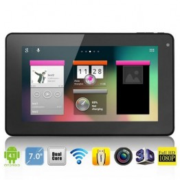 "7"" Pipo Smart S1 Tablet PC Android 4.1 RK3066 1.6GHz RAM 1GB DDR3 Nand Flash 8GB Webcam Wifi"