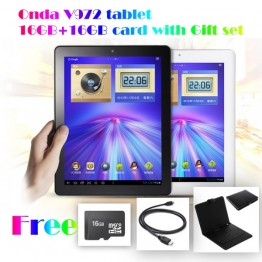 !!Special offer !!32GB ONDA V972 Quad Core A31 Android 4.1 Retina IPS Screen 9.7inch 2G Ram 4K Video Black With Free Set